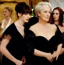 """Young assistant Andy (Anne Hathaway) is at the beck and call of Editor Miranda (Meryl Streep) in """"The Devil Wears Prada."""""""