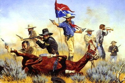 Custer with Guidon